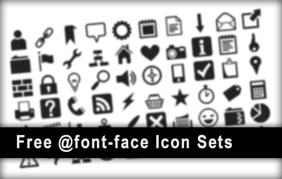 Free @font-face Icon Sets