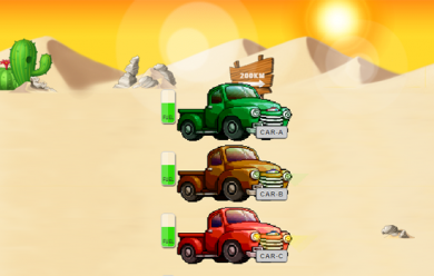 Cars Across the Desert Puzzle